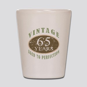 Vintage 65th Birthday Shot Glass