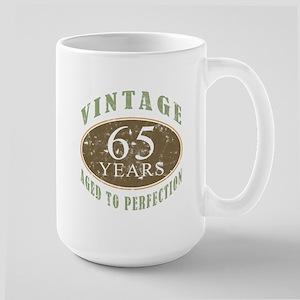 Vintage 65th Birthday Large Mug