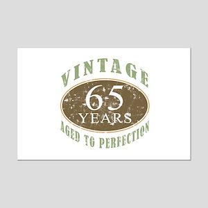 Vintage 65th Birthday Mini Poster Print