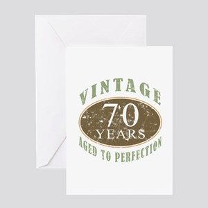 Vintage 70th Birthday Greeting Card