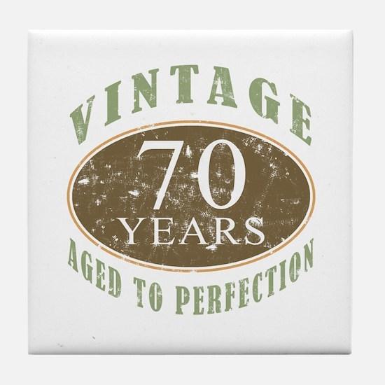 Vintage 70th Birthday Tile Coaster
