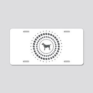 Dog Chrome Studs Aluminum License Plate