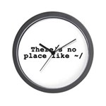 There's no place like ~/ Wall Clock
