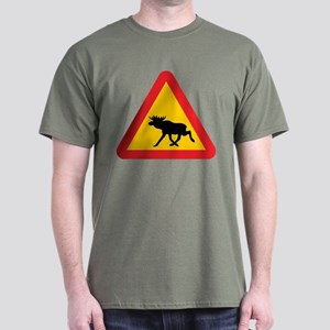 Elk Road Sign Dark T-Shirt