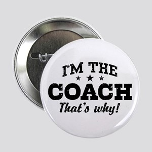 "Coach 2.25"" Button"