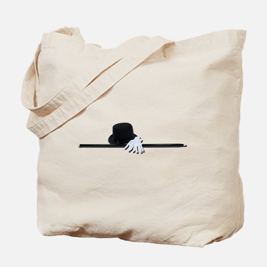 Top Hat Black Cane White Glov Tote Bag