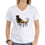Teddy Bear Bistro Setting Women's V-Neck T-Shirt