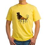 Teddy Bear Bistro Setting Yellow T-Shirt