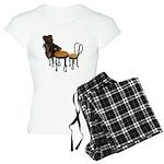 Teddy Bear Bistro Setting Women's Light Pajamas