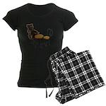 Teddy Bear Bistro Setting Women's Dark Pajamas