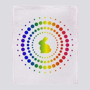 Rabbit Rainbow Studs Throw Blanket