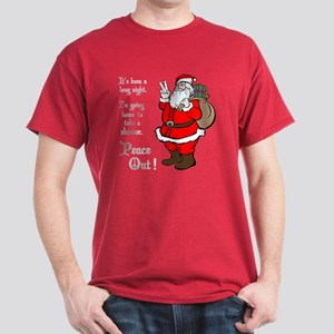 Peace Out Santa Dark T-Shirt