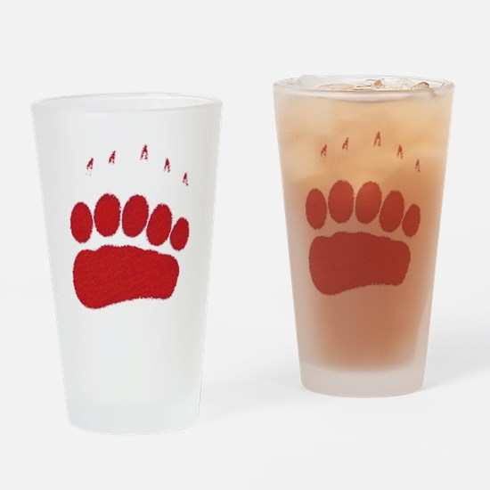 Bear Grizzly Track Drinking Glass