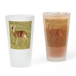 Forked Horn Buck Drinking Glass