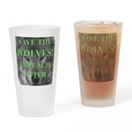 Help Idaho Wolves Drinking Glass