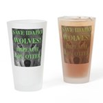 Save Idaho Wolves Drinking Glass