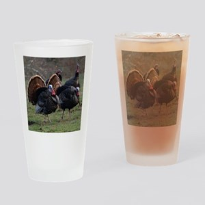 Four Gobblers Drinking Glass