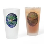 Think Green Double Sided Drinking Glass