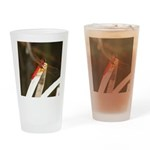 Red Dragonfly Drinking Glass