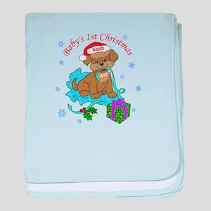 Baby's 1st Christmas baby blanket