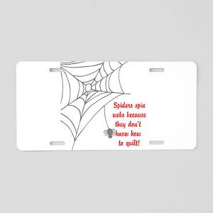 Quilt Aluminum License Plate