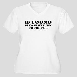 If Found, Return to the Pub Women's Plus Size V-Ne