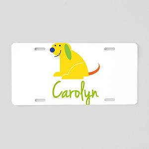 Carolyn Loves Puppies Aluminum License Plate
