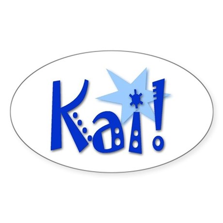 Kai Oval Sticker