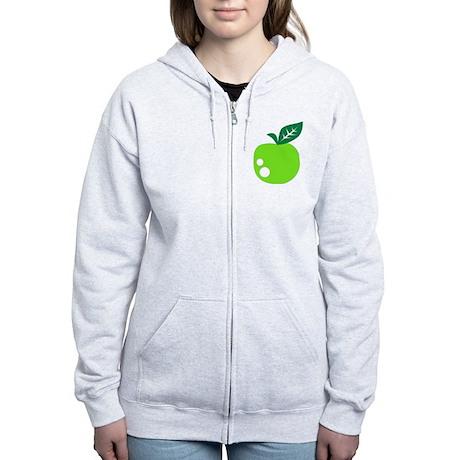 Green apple Women's Zip Hoodie