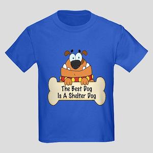 Best Shelter Dogs Kids Dark T-Shirt