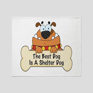 Best Shelter Dogs Throw Blanket