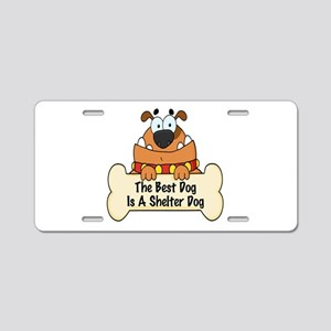 Best Shelter Dogs Aluminum License Plate