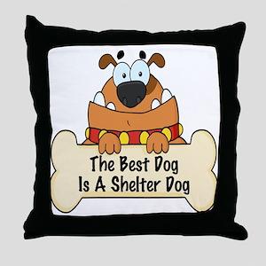 Best Shelter Dogs Throw Pillow