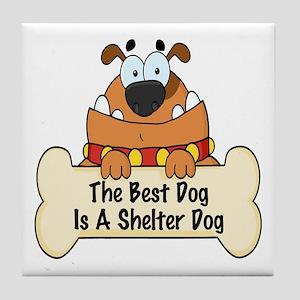 Best Shelter Dogs Tile Coaster