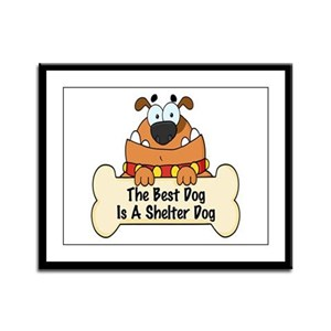 Best Shelter Dogs Framed Panel Print