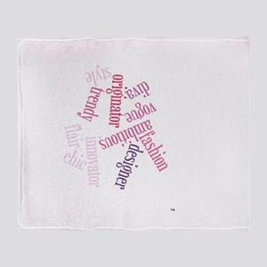 Fashion In Hues Of Pink Throw Blanket