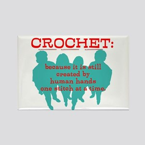 Crochet: because it's not mac Rectangle Magnet