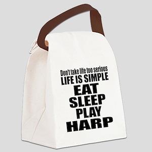 Eat Sleep And Harp Canvas Lunch Bag