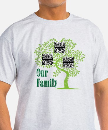QR Family Tree (3) T-Shirt