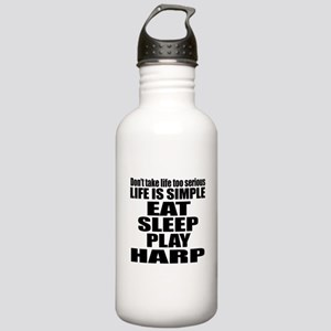 Eat Sleep And Harp Stainless Water Bottle 1.0L