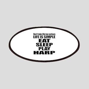 Eat Sleep And Harp Patch