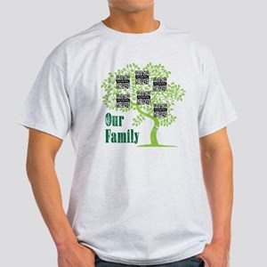 QR Family Tree (6) Light T-Shirt