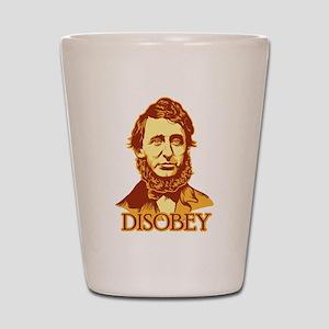 "Thoreau ""Disobey"" Shot Glass"