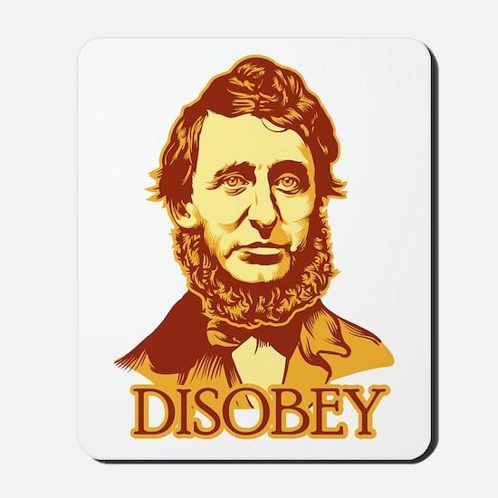 "Thoreau ""Disobey"" Mousepad"