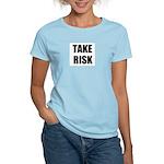 TAKE RISK Women's Pink T-Shirt