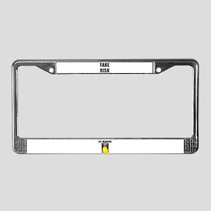 TAKE RISK License Plate Frame