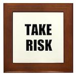 TAKE RISK Framed Tile