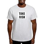 TAKE RISK Ash Grey T-Shirt