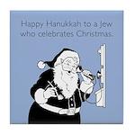Jew Who Celebrates Christmas Tile Coaster