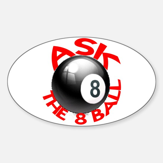ASK THE 8 BALL™ Sticker (Oval)